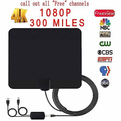 Digital TV Signal Amplifier Booster 45-862MHz Cable Fox Antenna Channel 3.3ft