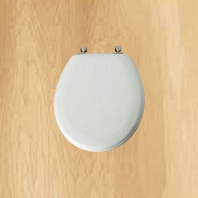 Mayfair Round White Molded Wood Toilet Seat Traditional Round Style Bath Decor 73088146434 Ebay
