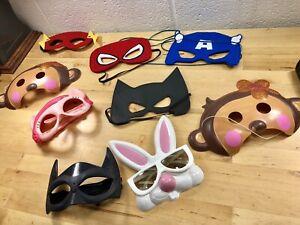 Children-s-Lot-Of-Masks-Halloween-Easter-Bunny-Super-Hero-Unisex-Costume