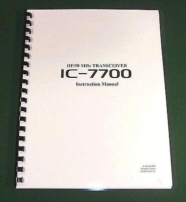 Premium Card Stock /& Protective Covers! Icom IC-7700 Instruction Manual