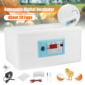 20-Egg-Automatic-Turning-Digital-Incubator-Poultry-Hatcher-Temperature