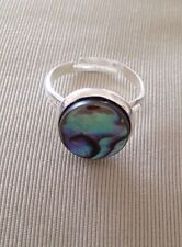 Abalone Shell Multi Coloured Ring Fits Up To Size Q UK Seller