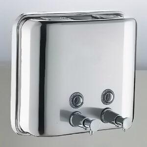 1500ml edelstahl wandmontage seifenspender shampoo spender seife dispenser ebay - Seifenspender edelstahl wandmontage ...