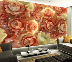 3D Steinschnitzen pink 864 Tapete Wandgemälde Tapete Tapeten Bild Familie DE