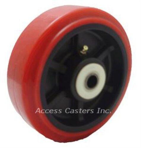"5PPU52 5/"" X 2/"" Poly on Poly Wheel 800 lbs Capacity 2-3//16/"" Hub Roller Bearing"
