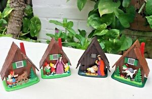 Lot-of-4-Vintage-Ges-Gesch-Miniature-House-View-Finders-RARE-Snow-White-Nativity