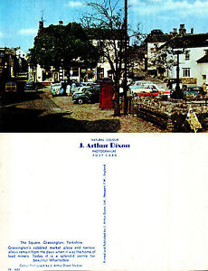 1980-039-s-THE-SQUARE-GRASSINGTON-YORKSHIRE-UNUSED-COLOUR-POSTCARD