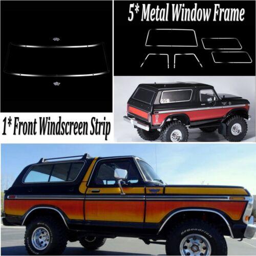 Window Mesh Frame Set For TRAXXAS TRX4 Ford Bronco Windshield Decorative Strip