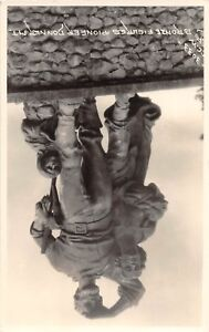 D89-Truckee-California-Ca-Postcard-Real-Photo-RPPC-Donner-Mt-Pioneers-Monument