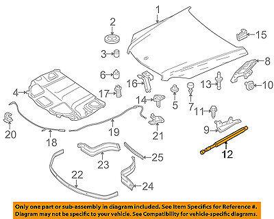 Mercedes MERCEDES-BENZ OEM Hood-Lift Support Strut Shock Prop Arm 2539801264