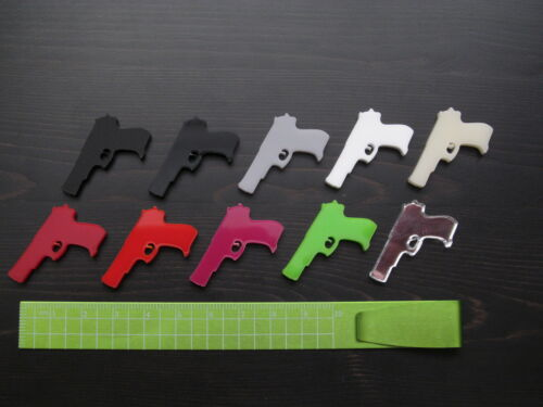 5x Handgun pistol gun laser cut acrylic charms cabochons  DIY jewellery making