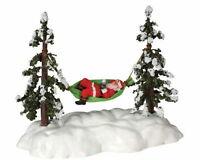 Lemax Santas Wonderland Napping Santa In Hammock Animated