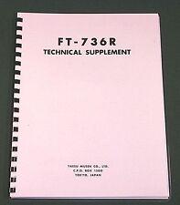 Yaesu FT-736R Service Manual - Premium Card Stock Covers & 28lb Paper!