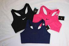 LOT 3 NWT Blue Pink Black NIKE Womens Victory Dri-Fit SPORTS BRA Size Large