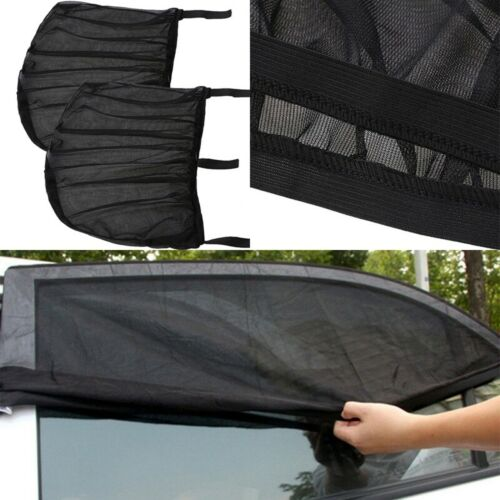 2x Car Sun Shade Cover for Rear Side Window Provides Max UV Protection