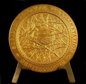 Medal-Ornithology-Ornithology-Bird-in-Sound-Nest-Bird-on-Nest-60mm55-Medal