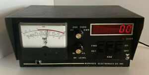 VINTAGE-WAWASEE-2000-WATT-SWR-FREQUENCY-METER-IN-GREAT-CONDITION-VHTF