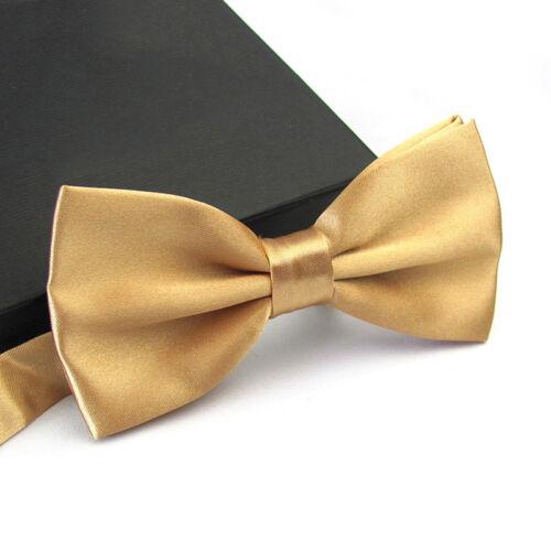 Mens Bow Tie Classic Adjustable Tuxedo Bowtie Business Wedding Necktie 14 Colors
