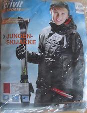 Jungen Ski Jacke * 134/140 * Schwarz * Winterjacke * Crivit Sports * Neu * OVP
