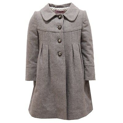 release date f1360 fdd5f 2250V cappotto bimba girl SIMONETTA wool grey coat | eBay