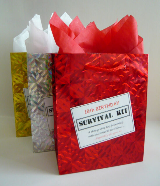 MALE 18th Birthday SURVIVAL KIT Humorous Gift Idea Unusual Fun Novelty Present
