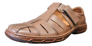 Men-Genuine-Buffalo-Leather-Sandals-Shoes-Orthopedic-Form-UK-Size-7-8-9-10-11