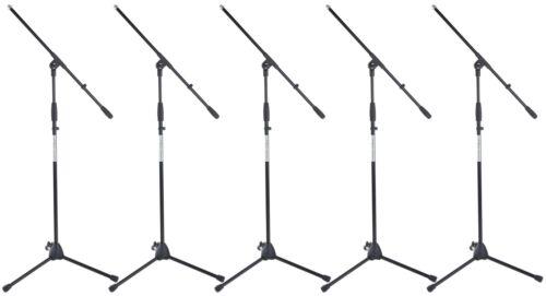 Massives Mikrofonständer 5er Set mit Galgen für den harten Einsatz