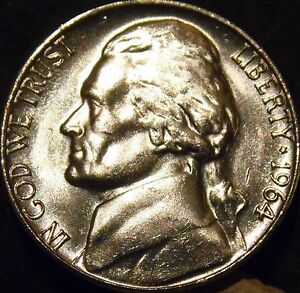 Image Is Loading 1964 D Jefferson Nickel Choice Gem BU Uncirculated
