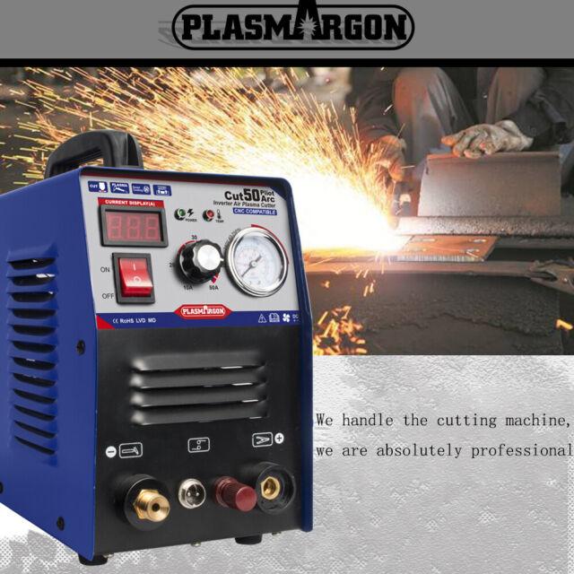 Plasma Cutter Pilot Arc 50 Amp Dual Voltage 110//220V CNC Compatible