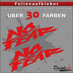 2er-SET-NO-FEAR-Sponsoren-Folienaufkleber-Auto-Motorrad-30-Farben-8cm