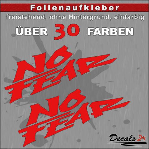 2er Set-NO FEAR Sponsor-diapositive ADESIVO AUTO//MOTO 30 colori 10cm