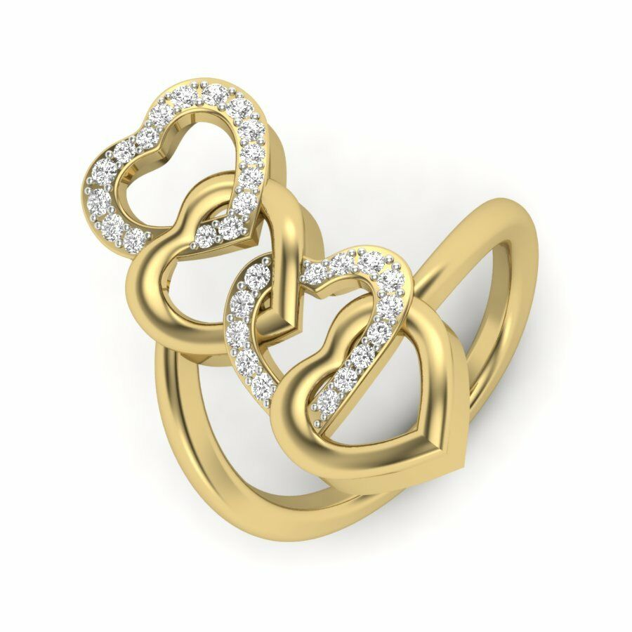 14k Yellow gold Round Cut Diamond Ring Valentines Special Size 6 7 8