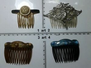 forcine ferma capelli strass smalto perle  italy artigianale vintage Hair pins