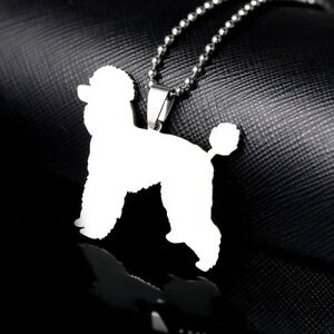 Stainless-Steel-Giant-Standard-Toy-Poodle-Pudle-Caniche-Barbone-Pet-Dog-Pendant