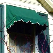 Kelly Ironworks Savawn Aluminum DIY Retractable 4 foot GREEN Window Door Awning
