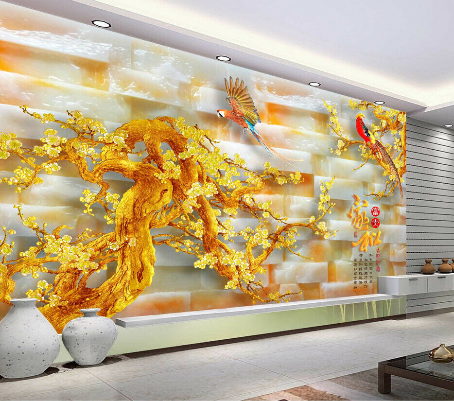 3D Parrot Squid 467 Wallpaper Murals Wall Print Wallpaper Mural AJ WALL AU Lemon