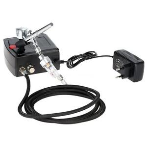 Dual-Action-Gravity-Feed-Airbrush-Gun-Spray-Art-Paint-Air-Compressor-Kit
