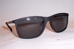 a2ecdcdbc8db9 NEW EMPORIO ARMANI SUNGLASSES EA 4058 506381 BLACK GRAY POLARIZED ...