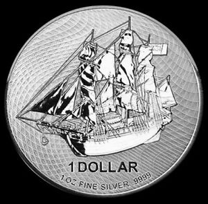 2020-1-oz-Silver-9999-Fine-Cook-Island-HMS-Bounty-Ship-Coin-Brilliant-UNC