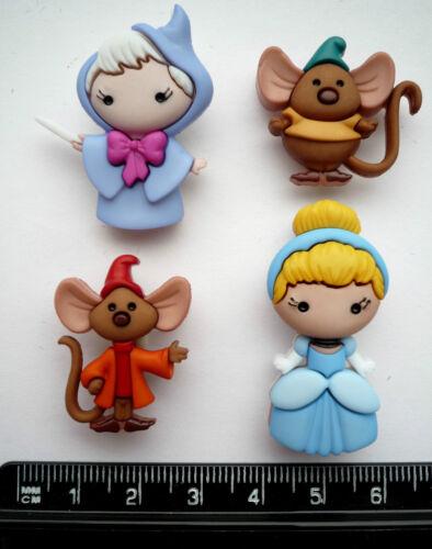 Disney CINDERELLA Craft Buttons Walt Fairytale Pantomime Prince Novelty Themed