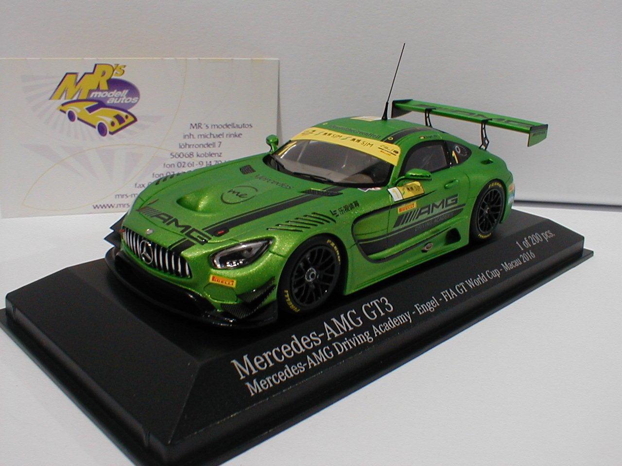 Minichamps 437163101 - Mercedes-Benz AMG GT3 No1 FIA GT WC Macau 2016 Engel 1 43  | Praktisch Und Wirtschaftlich