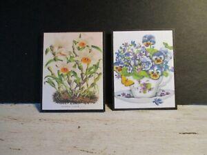 2 Maison De Poupées Miniature Vintage Botanique Photos W9-afficher Le Titre D'origine