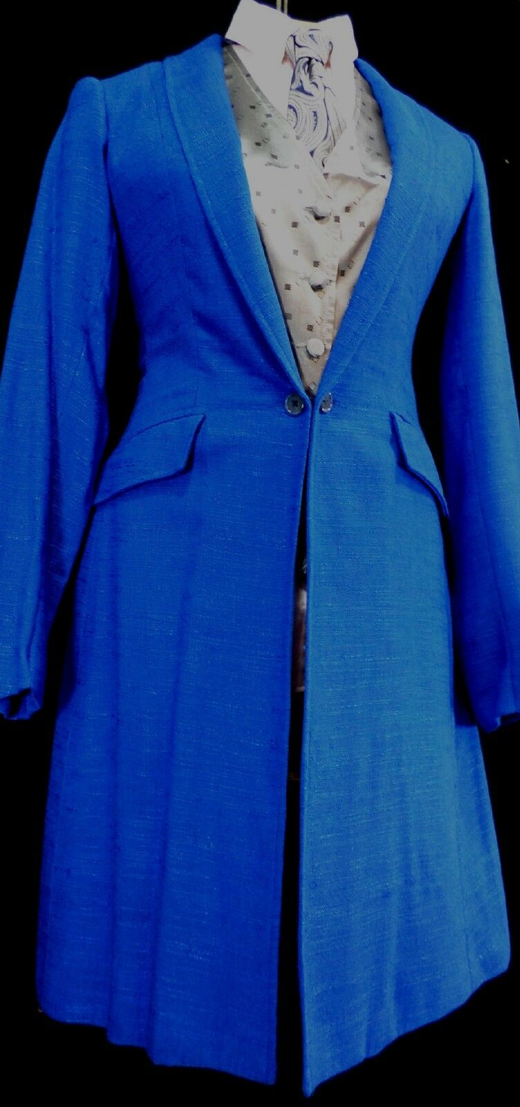 Reed Hill Ladies Saddleseat  Day Coat Royal bluee Linen Poly   Blend size 10 - USA  sales online