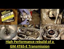 HP DVD VIDEO TRANSMISSION REBUILD MANUAL 4T65E-HD 4T65EHD TRANS HIGH PERFORMANCE