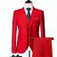 miniature 23 - Mens Suits Sets 3 Pcs Slim Fit Coats Tuxedos Groom Groomsman Formal Work Casual