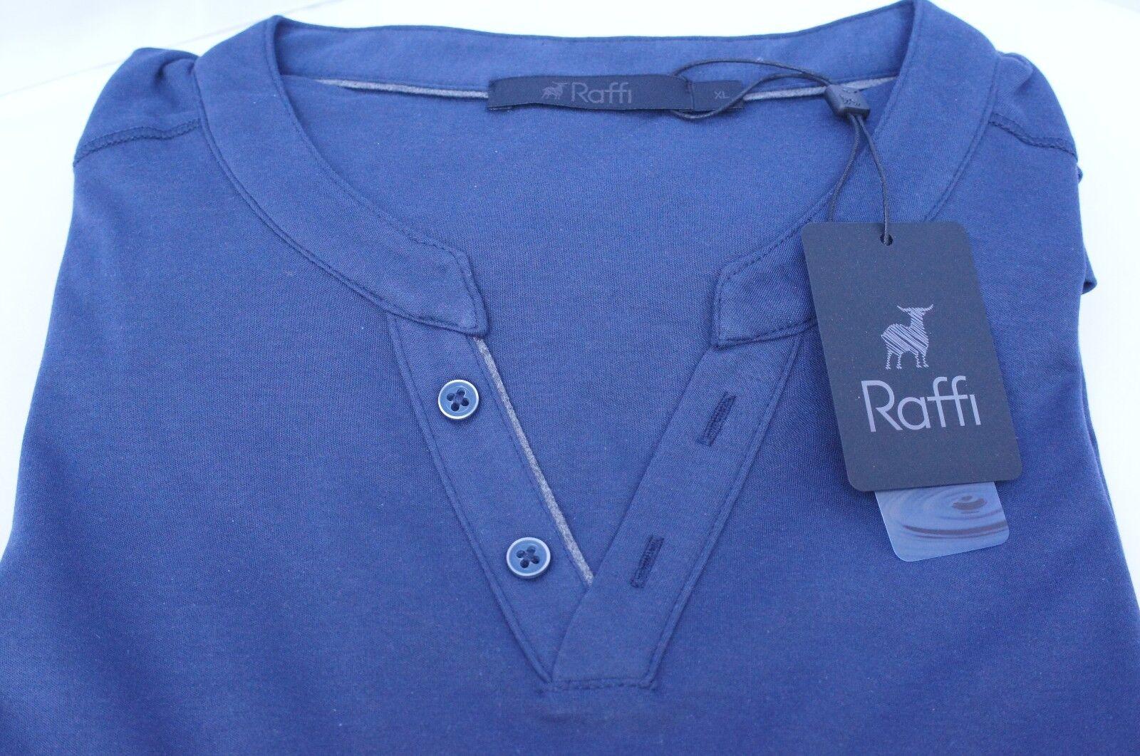 Nueva Camiseta Raffi para hombre hombre hombre de manga corta Talla L Azul Algodón 9915dc