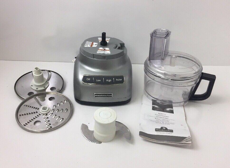KitchenAid KFP0711CUO 7-Cup Food Processor contour argent