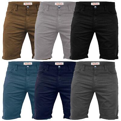 Da Uomo Pantaloncini Di Jeans Regular COTONE STRETCH SLIM FIT MEZZA Jeans Estate Pantaloni Casual