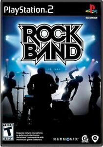 PS2-Original-ROCK-BAND-1-Video-GAME-ONLY-Sony-Playstation-2-COMPLETE-music-disc