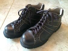 DR. MARTENS LEATHER BROWN MORRIS AW004 ANKLE HIKER 8-EYE BOOTS  SZ 11 EUC!!!